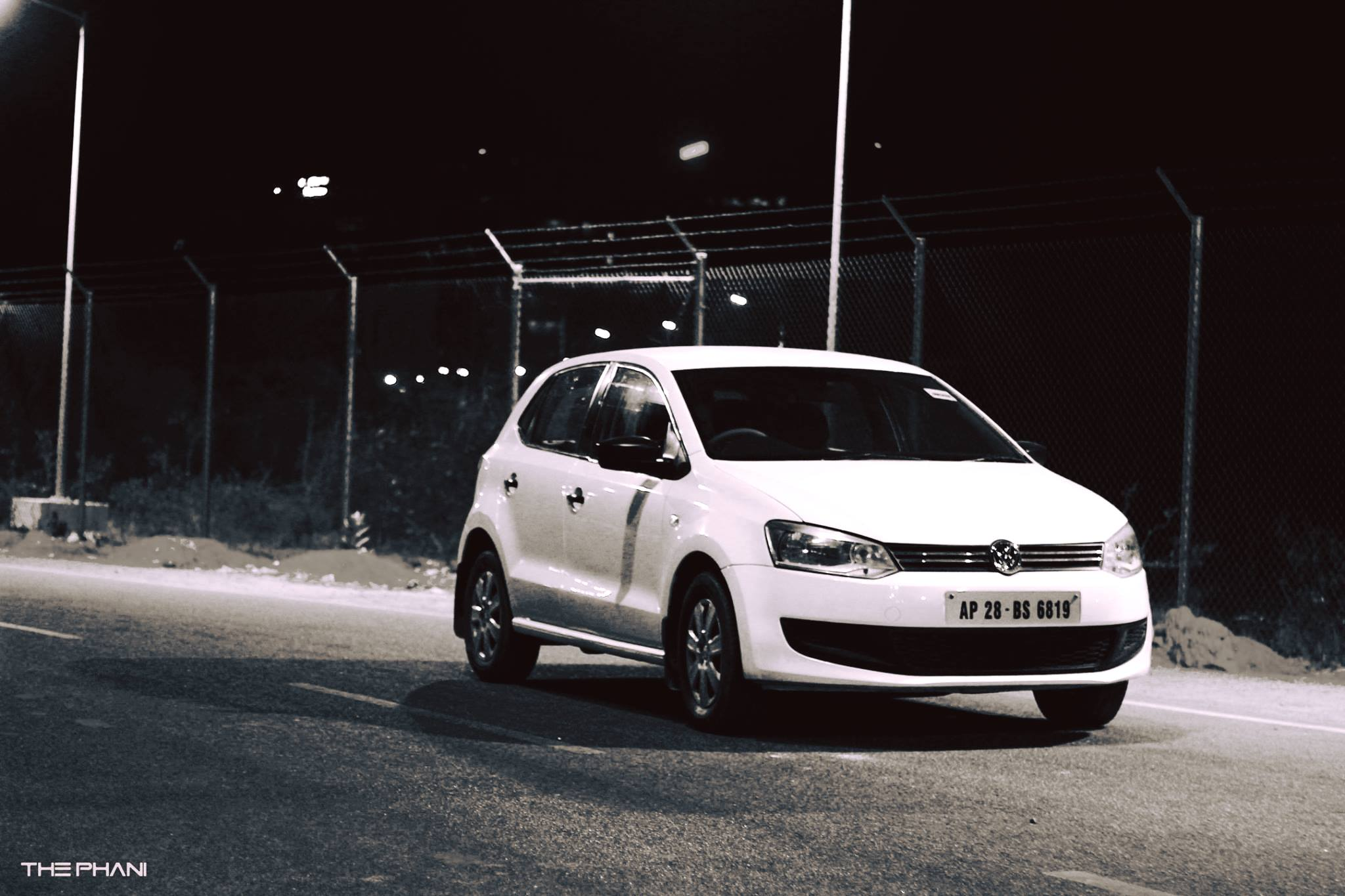 Night Photoshoot of Volkswagen Polo